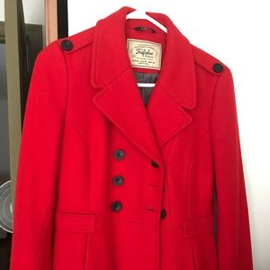 Trendy red coat